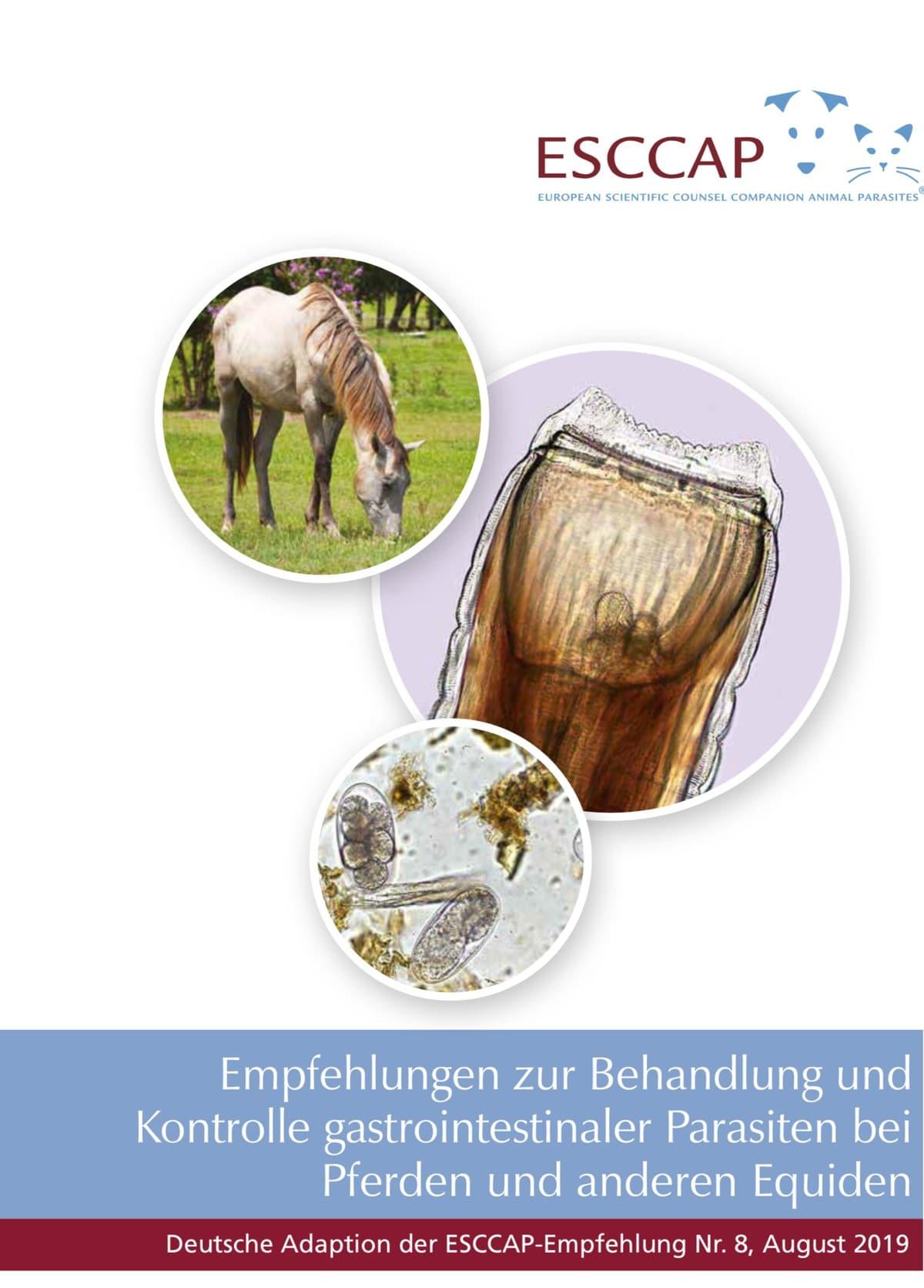 Empfehlung zu gastrointestinalen Parasiten beim Pferd als Heft