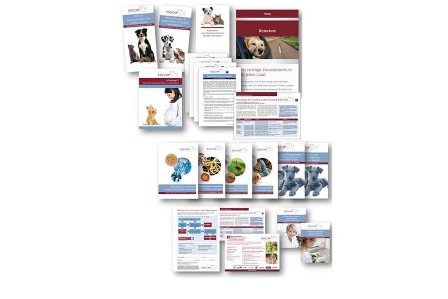 Mehrere Broschüren und Flyer des ESCCAP-Infomaterials