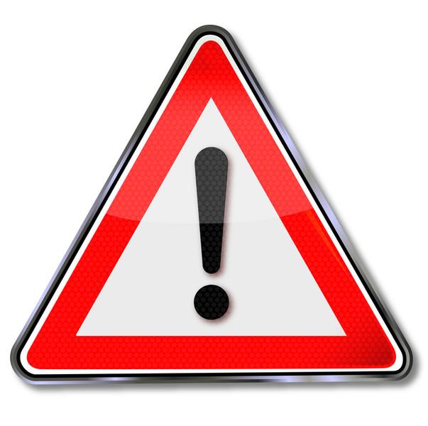 Rot-weißes Verkehrszeichen - Allgemeine Gefahrenstelle