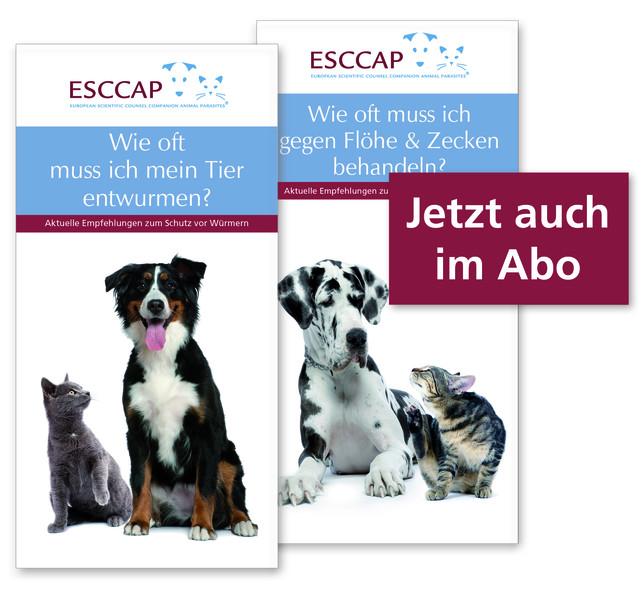 Abbildung von zwei Tierhalter-Flyer